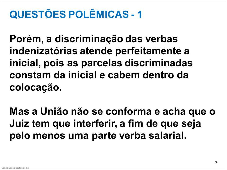 QUESTÕES POLÊMICAS - 1