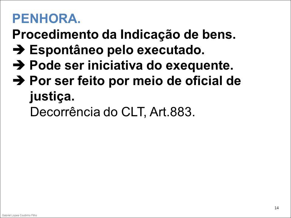 justiça. Decorrência do CLT, Art.883.