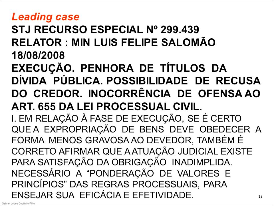 Leading case STJ RECURSO ESPECIAL Nº 299