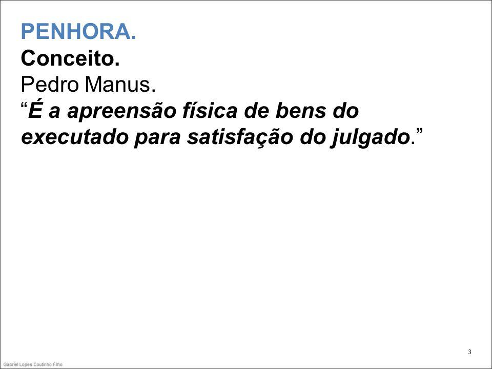 PENHORA. Conceito. Pedro Manus