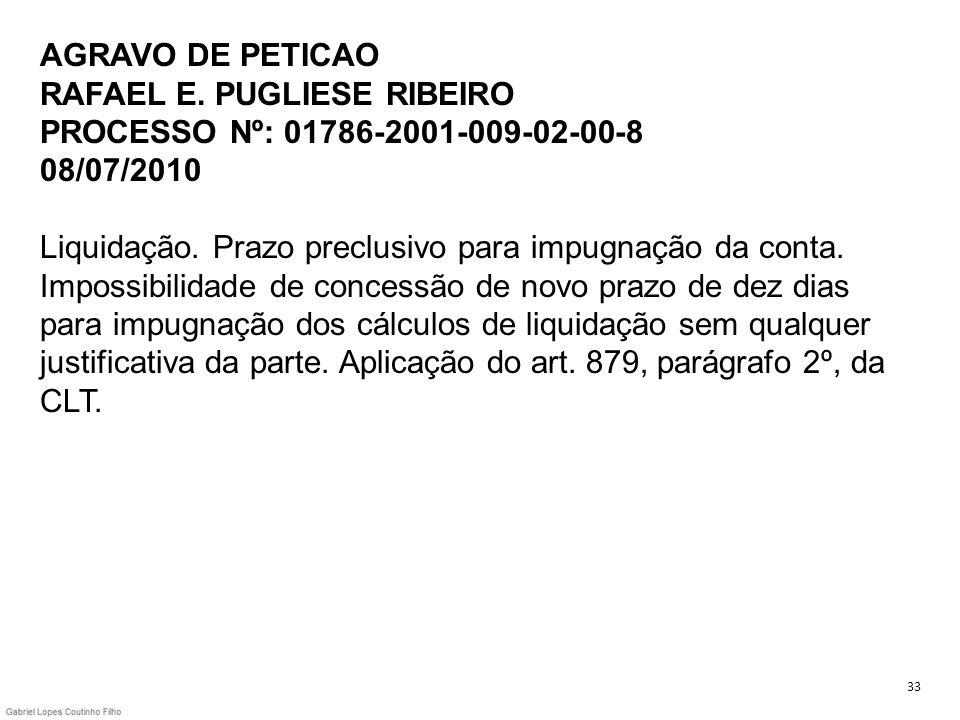 AGRAVO DE PETICAO RAFAEL E
