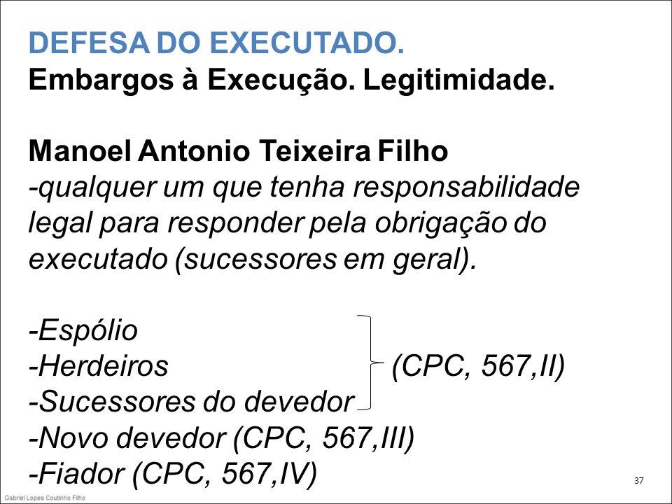-Sucessores do devedor -Novo devedor (CPC, 567,III)