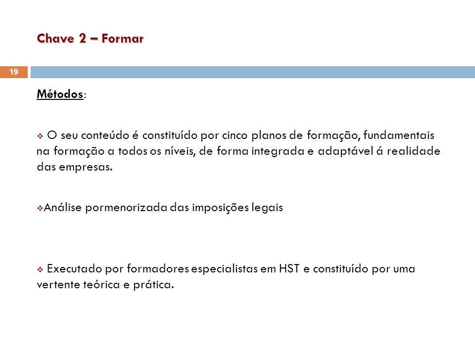 Chave 2 – Formar Métodos: