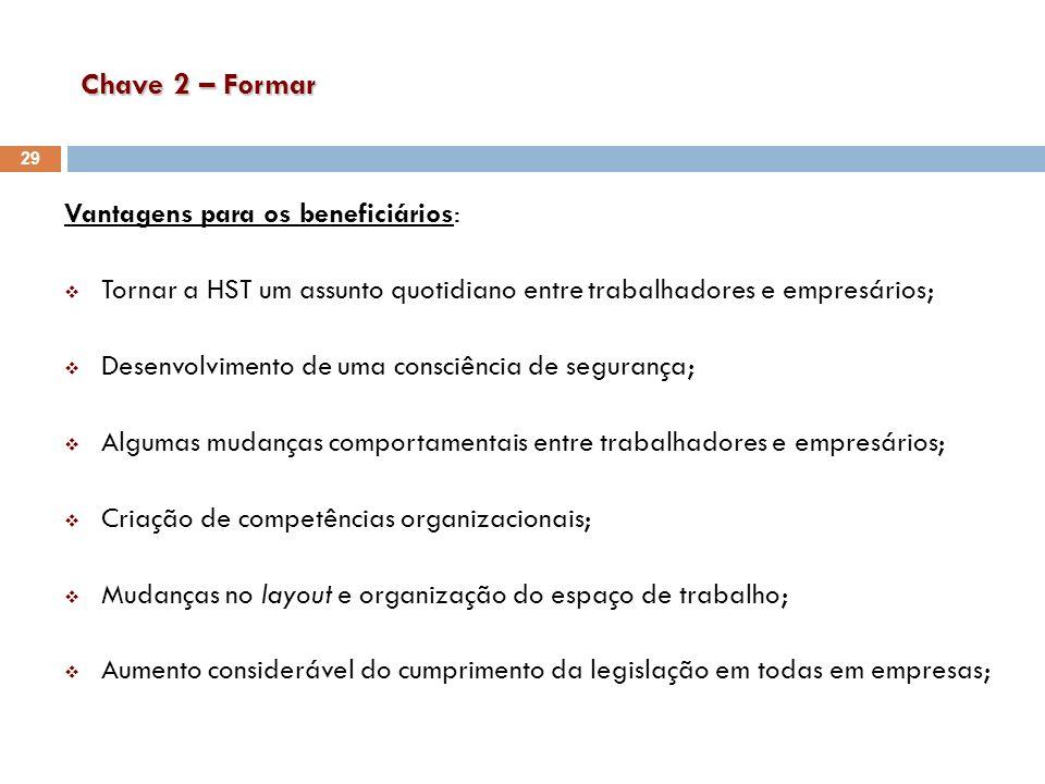Chave 2 – Formar Vantagens para os beneficiários: