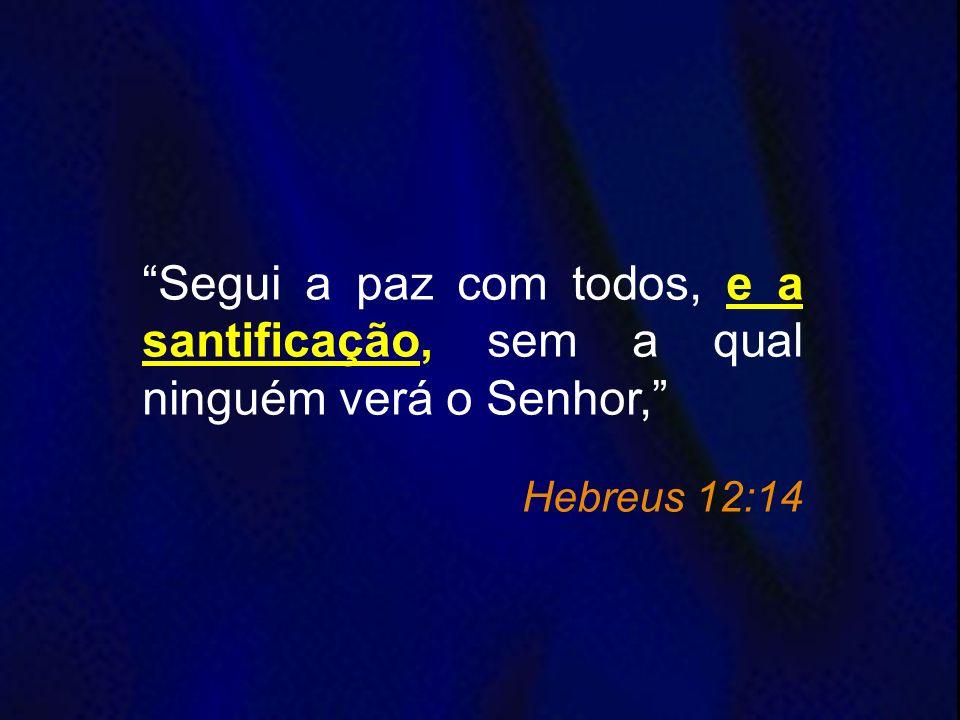 Segui a paz com todos, e a santificação, sem a qual ninguém verá o Senhor,