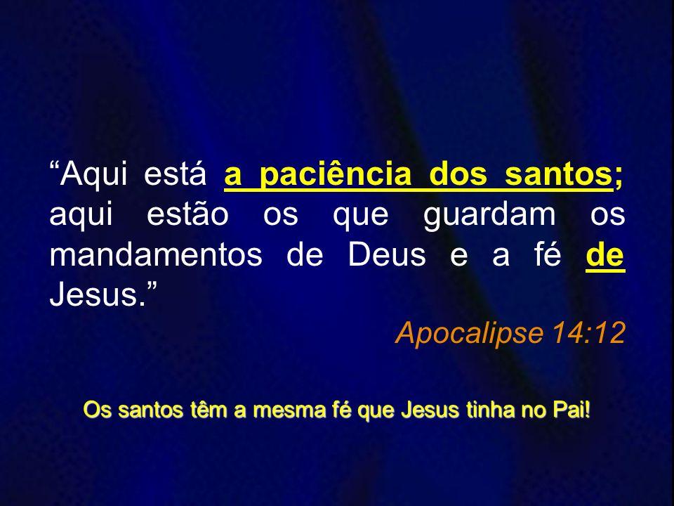Os santos têm a mesma fé que Jesus tinha no Pai!