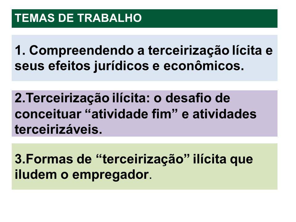 3.Formas de terceirização ilícita que iludem o empregador.