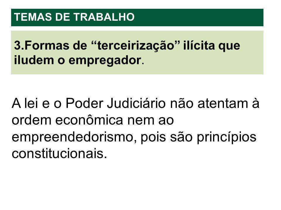 A lei e o Poder Judiciário não atentam à ordem econômica nem ao empreendedorismo, pois são princípios constitucionais.