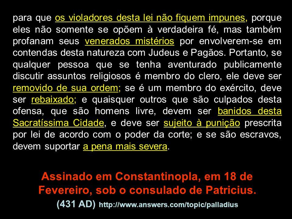 Assinado em Constantinopla, em 18 de