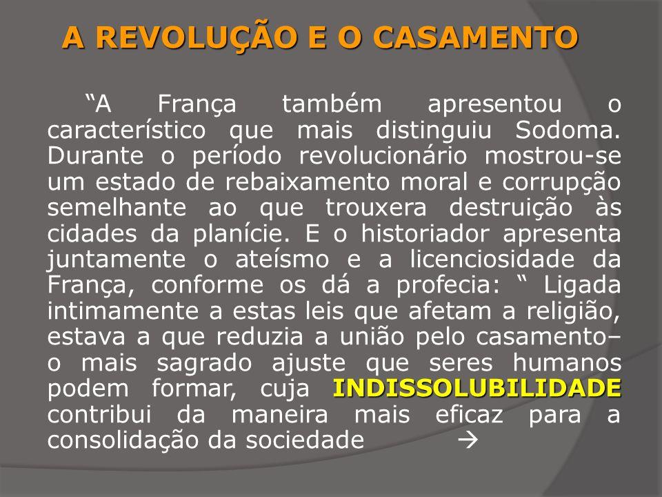 A REVOLUÇÃO E O CASAMENTO
