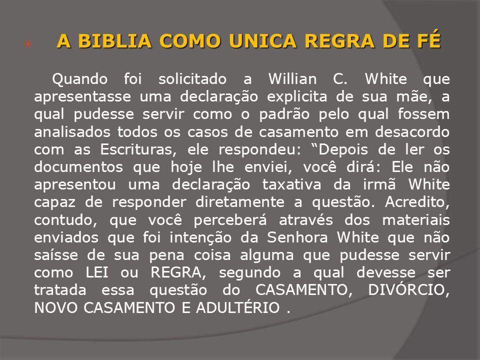 A BIBLIA COMO UNICA REGRA DE FÉ