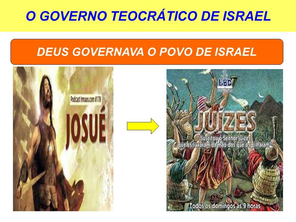 O GOVERNO TEOCRÁTICO DE ISRAEL