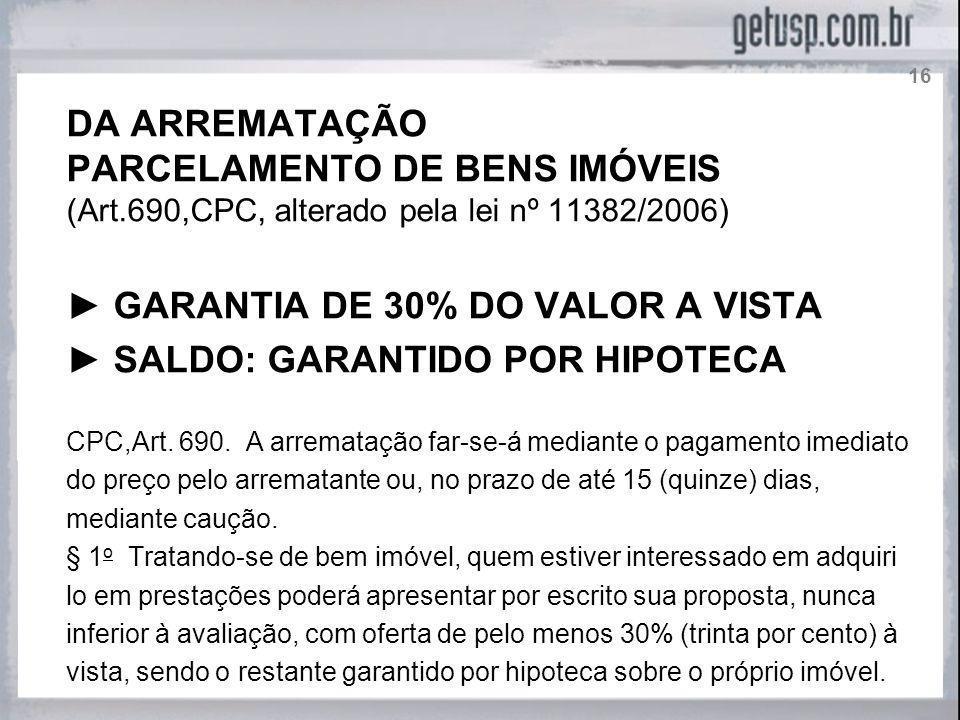 PARCELAMENTO DE BENS IMÓVEIS