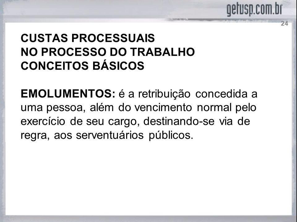 NO PROCESSO DO TRABALHO CONCEITOS BÁSICOS