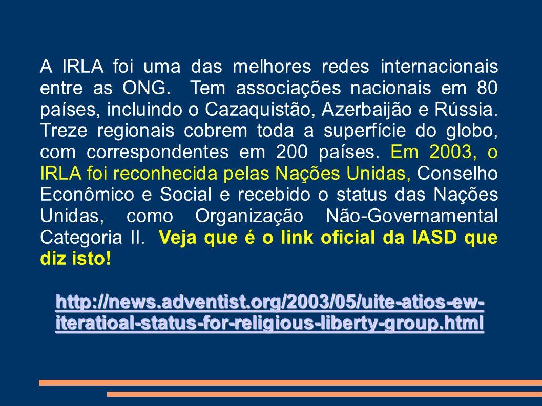 A IRLA foi uma das melhores redes internacionais entre as ONG