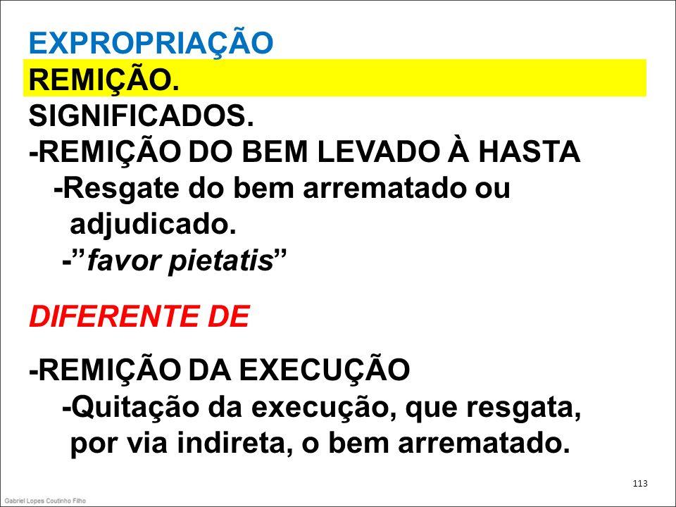 -REMIÇÃO DO BEM LEVADO À HASTA -Resgate do bem arrematado ou