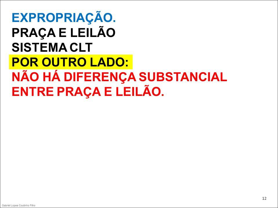 NÃO HÁ DIFERENÇA SUBSTANCIAL ENTRE PRAÇA E LEILÃO.
