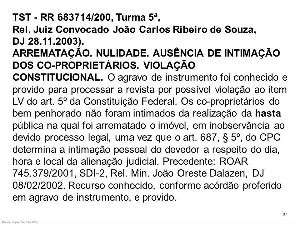 Rel. Juiz Convocado João Carlos Ribeiro de Souza, DJ 28.11.2003).