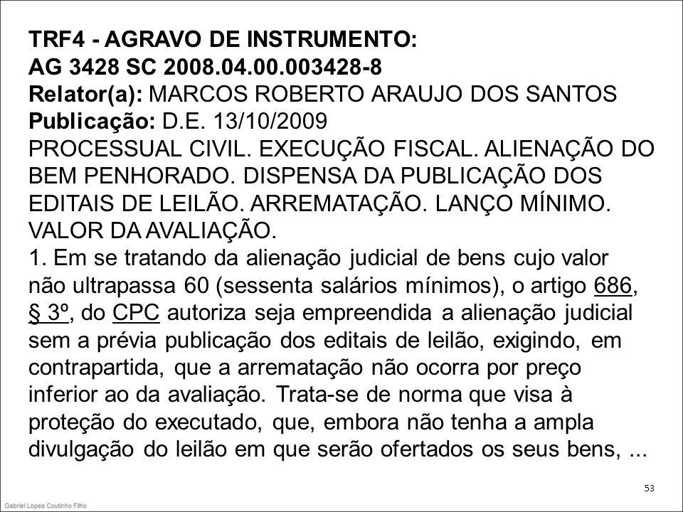TRF4 - AGRAVO DE INSTRUMENTO: AG 3428 SC 2008.04.00.003428-8