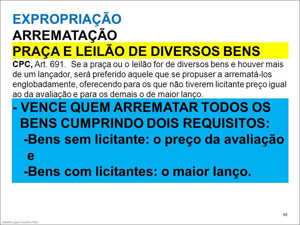 PRAÇA E LEILÃO DE DIVERSOS BENS