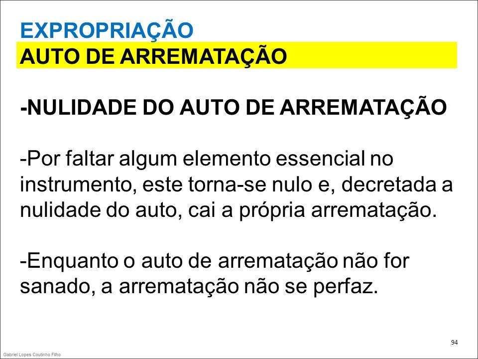 -NULIDADE DO AUTO DE ARREMATAÇÃO