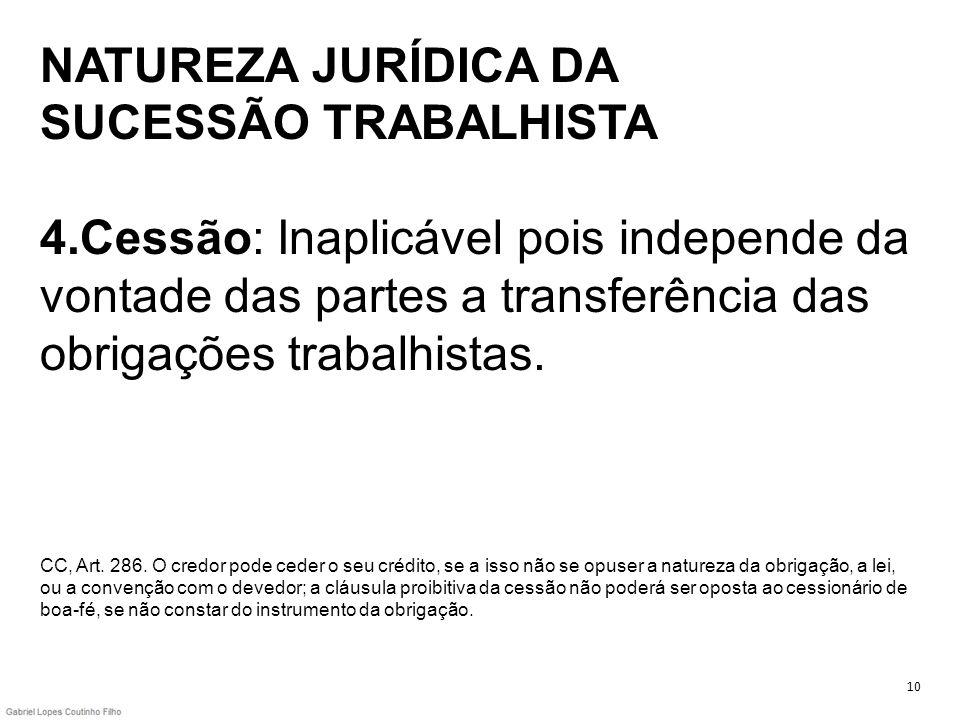 NATUREZA JURÍDICA DA SUCESSÃO TRABALHISTA 4