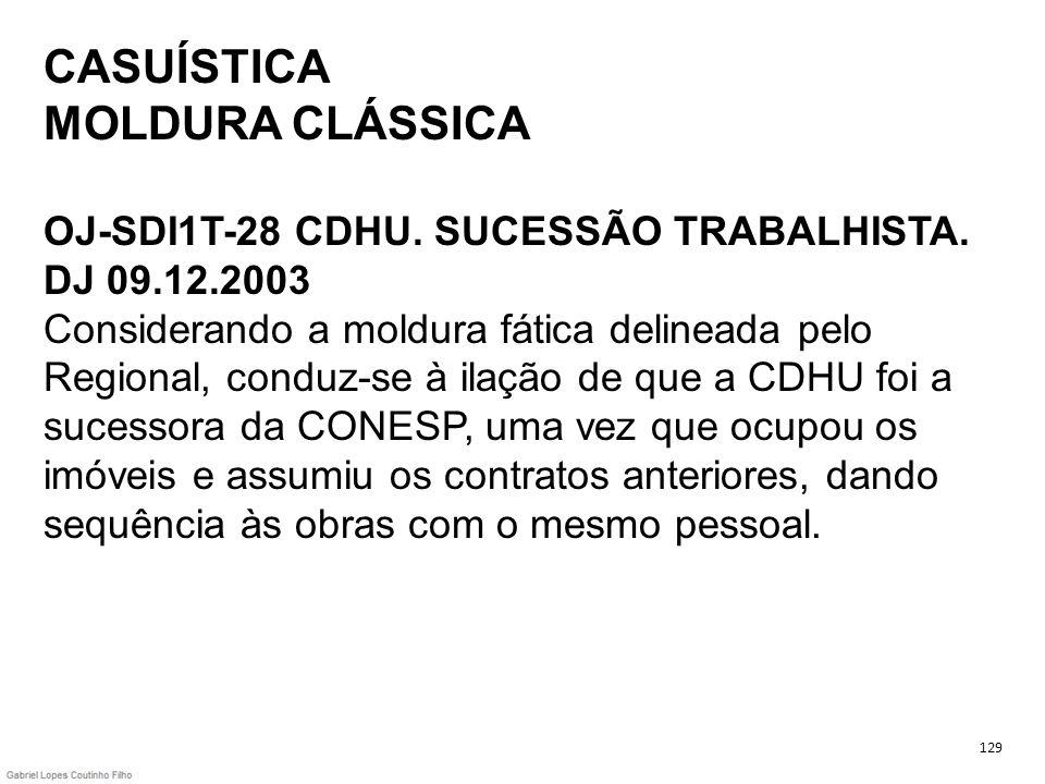 CASUÍSTICA MOLDURA CLÁSSICA OJ-SDI1T-28 CDHU. SUCESSÃO TRABALHISTA