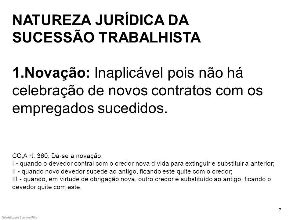 NATUREZA JURÍDICA DA SUCESSÃO TRABALHISTA 1