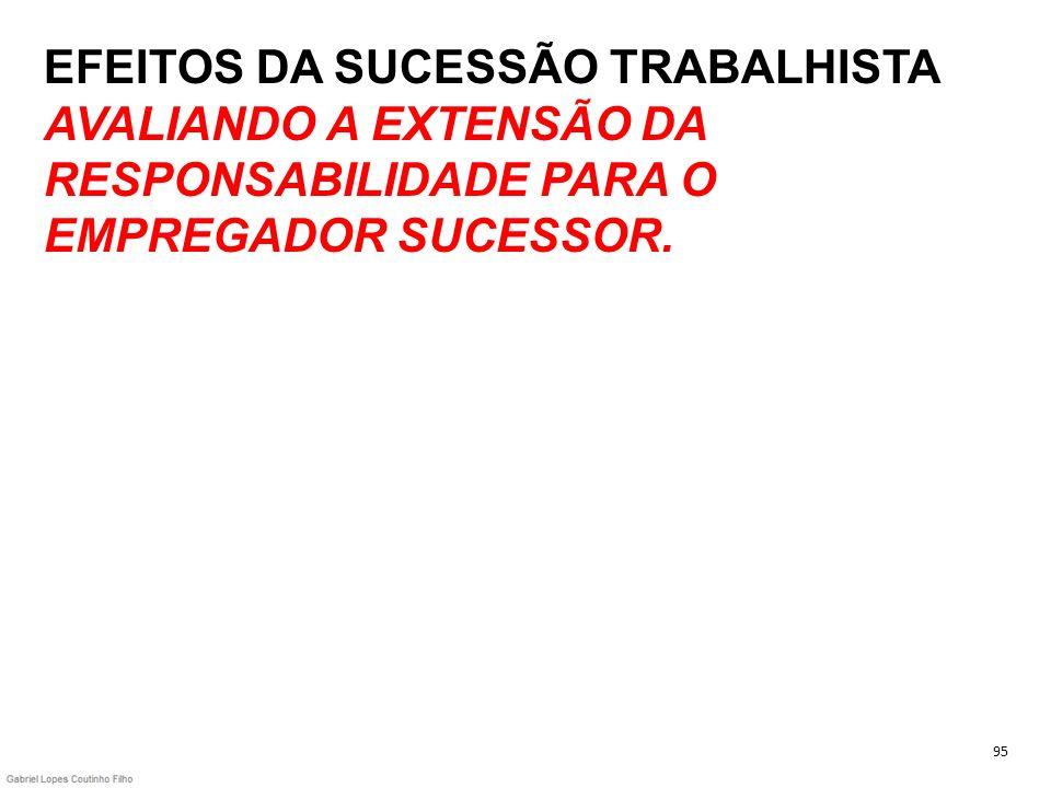 EFEITOS DA SUCESSÃO TRABALHISTA AVALIANDO A EXTENSÃO DA RESPONSABILIDADE PARA O EMPREGADOR SUCESSOR.