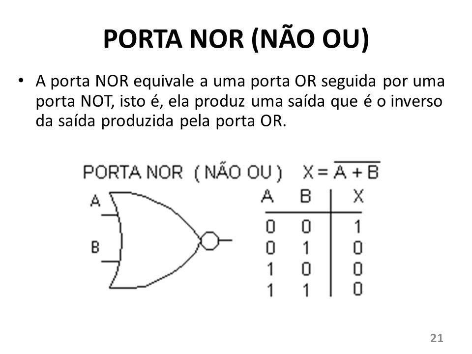 PORTA NOR (NÃO OU)