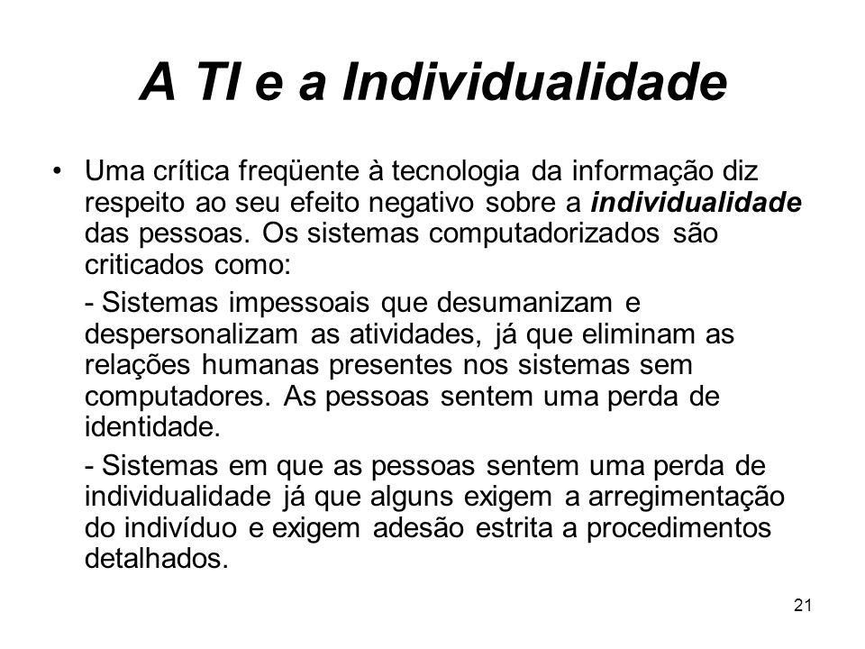 A TI e a Individualidade