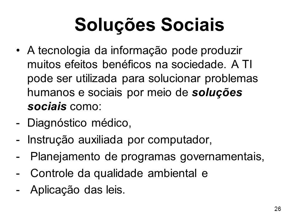 Soluções Sociais