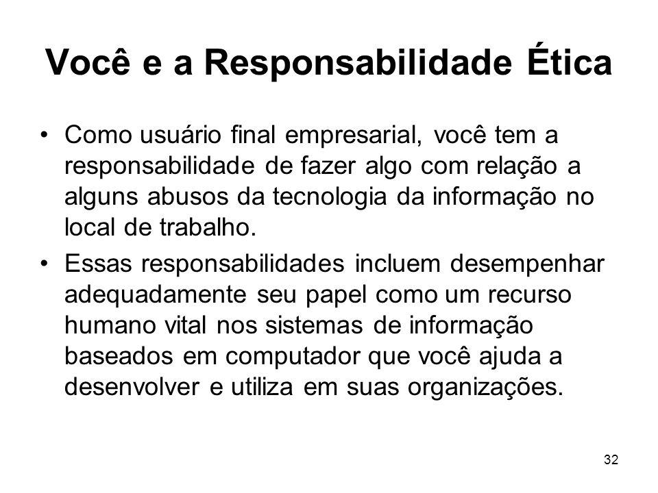 Você e a Responsabilidade Ética