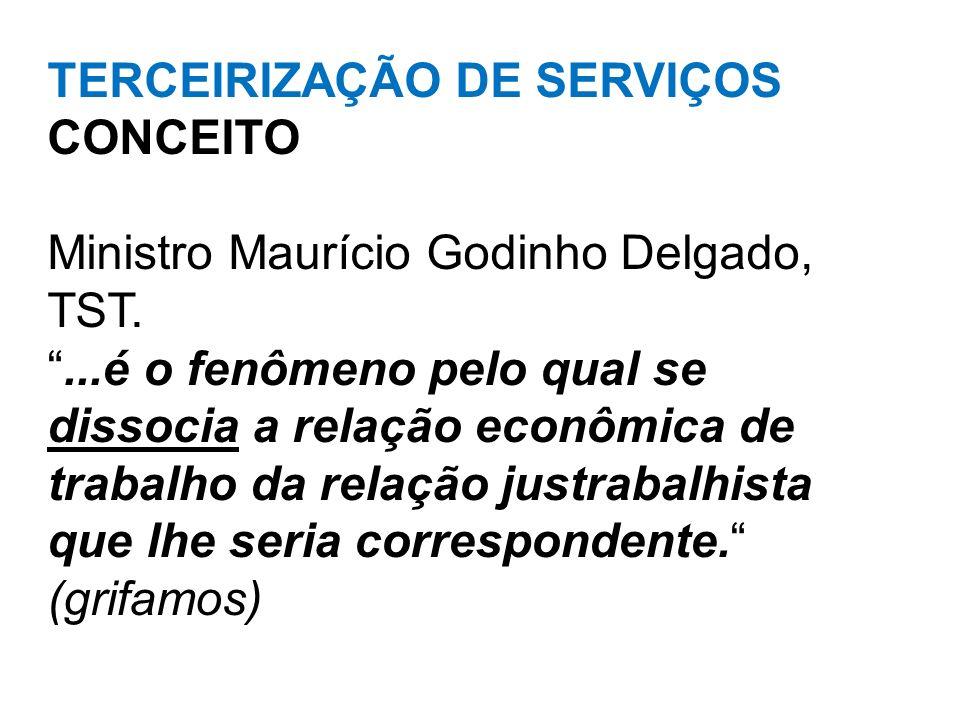 TERCEIRIZAÇÃO DE SERVIÇOS CONCEITO