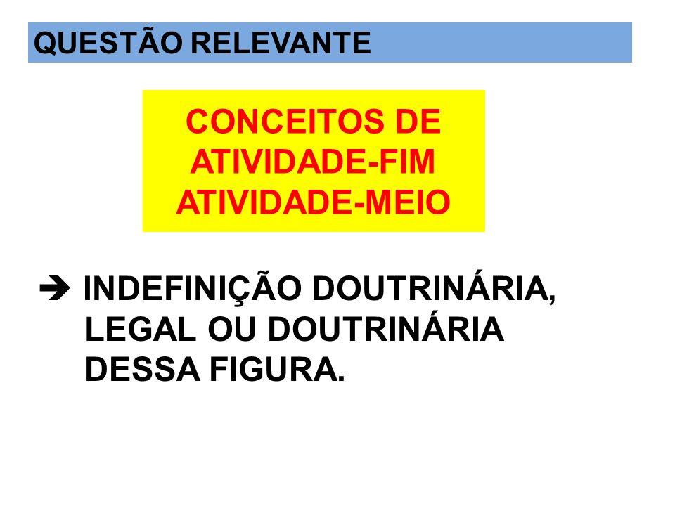 CONCEITOS DE ATIVIDADE-FIM ATIVIDADE-MEIO