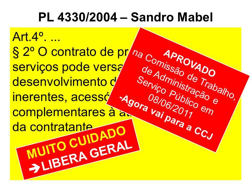 PL 4330/2004 – Sandro Mabel MUITO CUIDADO LIBERA GERAL