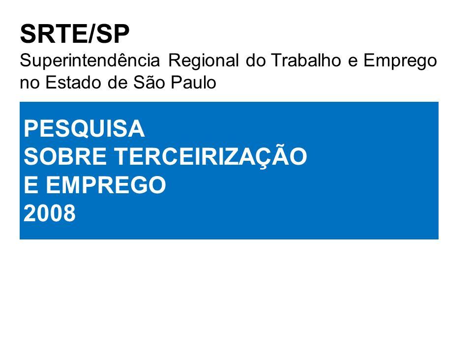 SRTE/SP Superintendência Regional do Trabalho e Emprego no Estado de São Paulo