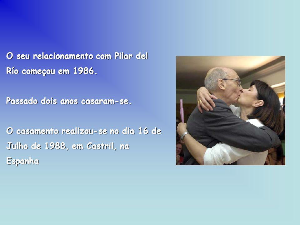 O seu relacionamento com Pilar del Río começou em 1986.