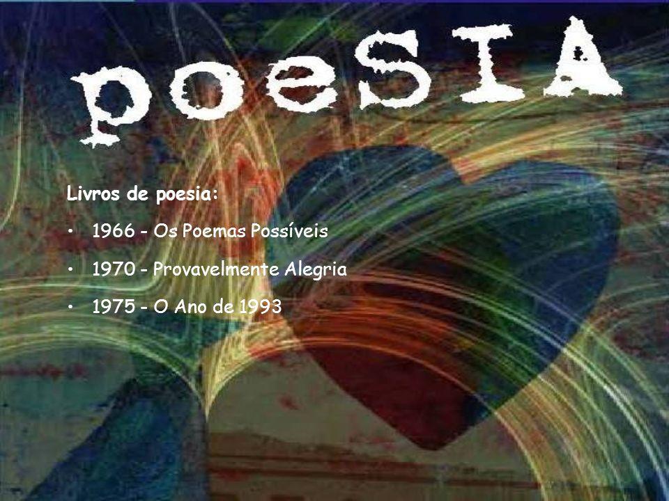 Livros de poesia: 1966 - Os Poemas Possíveis 1970 - Provavelmente Alegria 1975 - O Ano de 1993