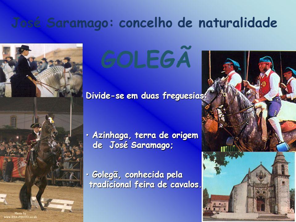 GOLEGÃ José Saramago: concelho de naturalidade