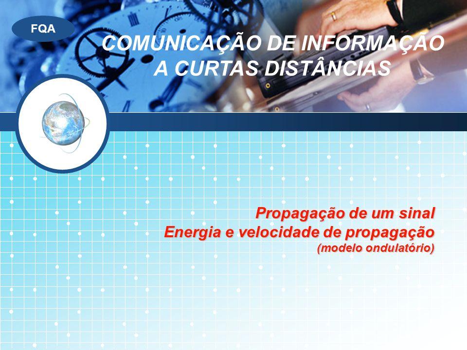 COMUNICAÇÃO DE INFORMAÇÃO A CURTAS DISTÂNCIAS