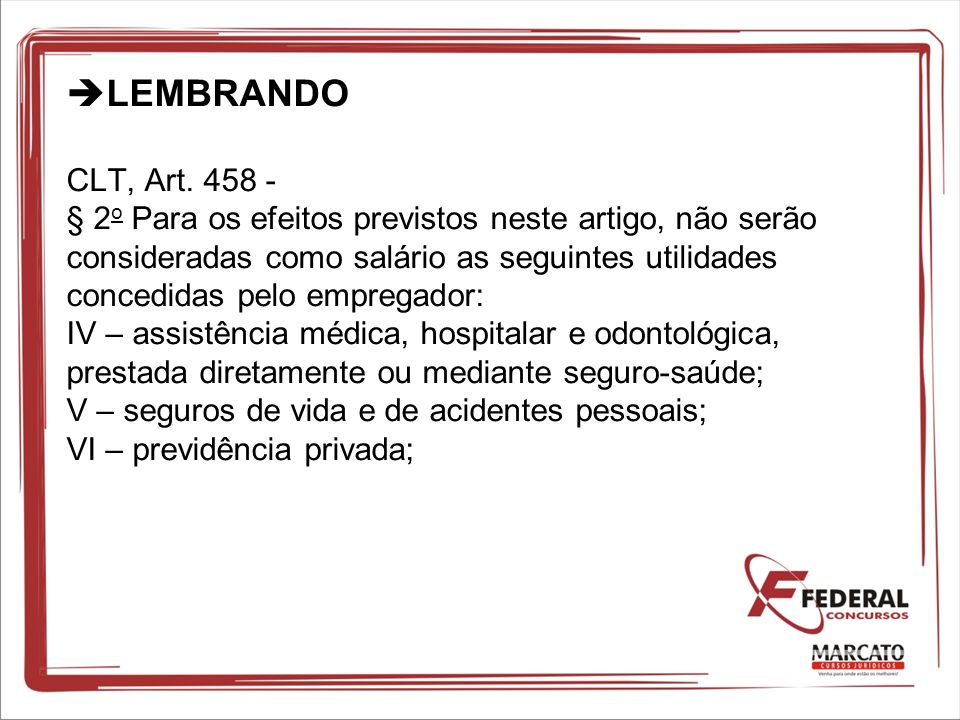 LEMBRANDO CLT, Art.
