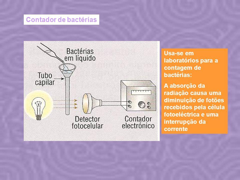 Contador de bactérias Usa-se em laboratórios para a contagem de bactérias:
