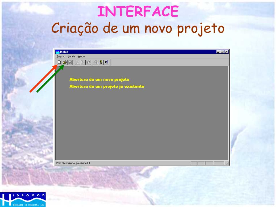 INTERFACE Criação de um novo projeto