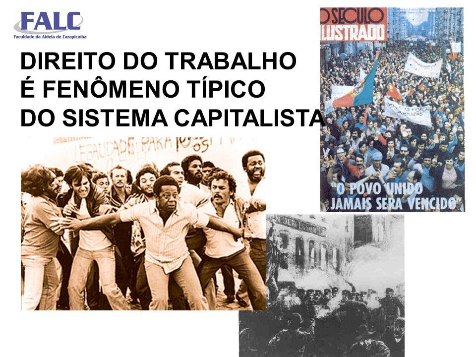 DIREITO DO TRABALHO É FENÔMENO TÍPICO DO SISTEMA CAPITALISTA CAPITALISTA