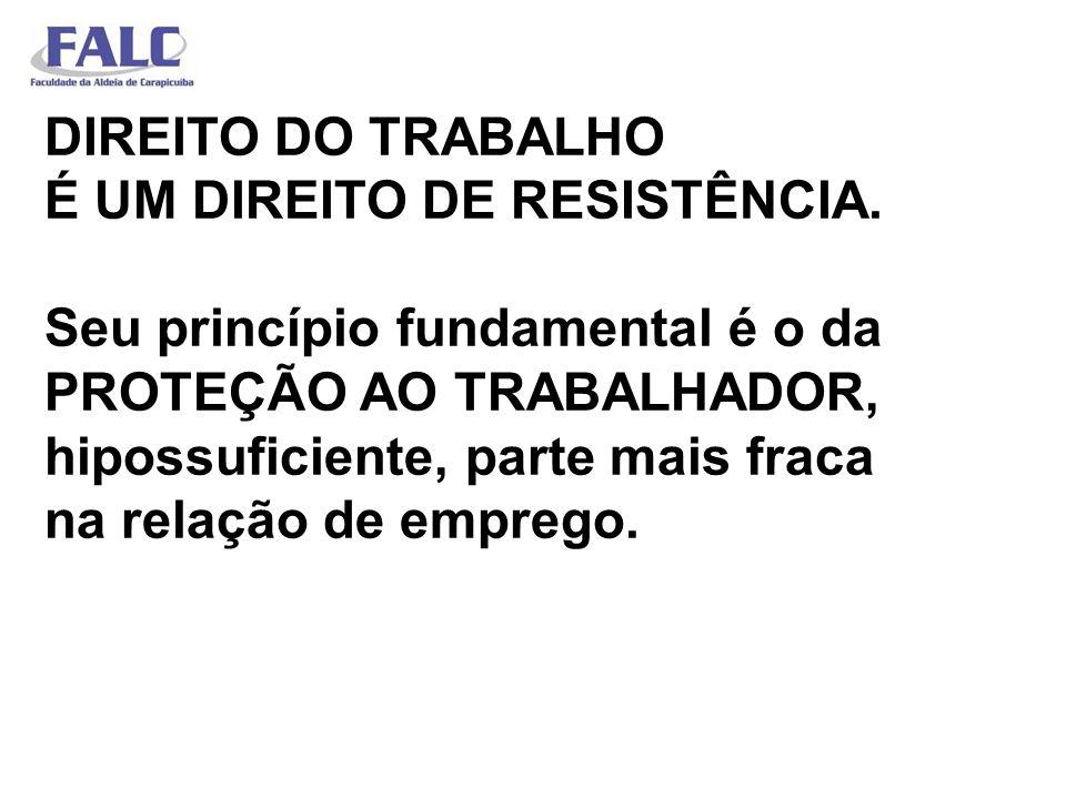 DIREITO DO TRABALHO É UM DIREITO DE RESISTÊNCIA