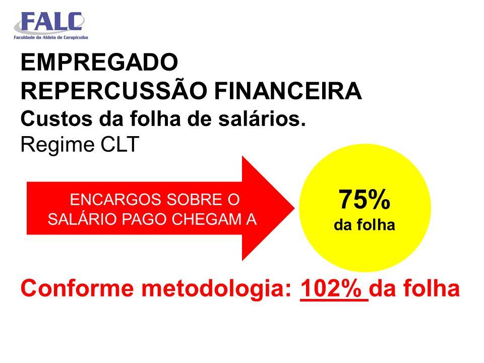 EMPREGADO REPERCUSSÃO FINANCEIRA Custos da folha de salários
