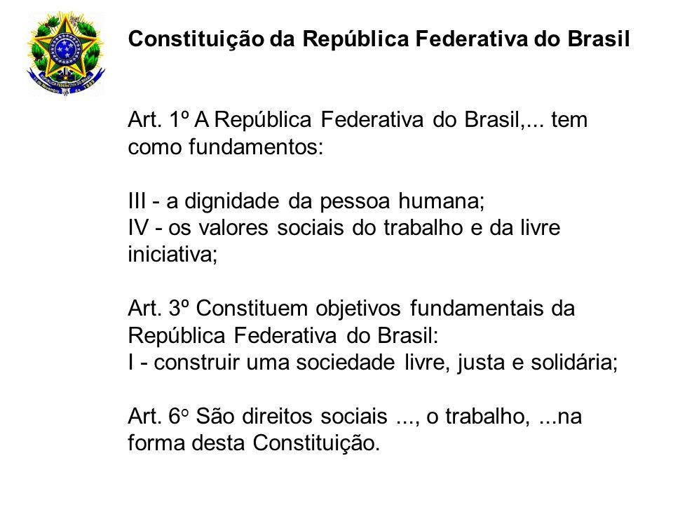 Constituição da República Federativa do Brasil Art