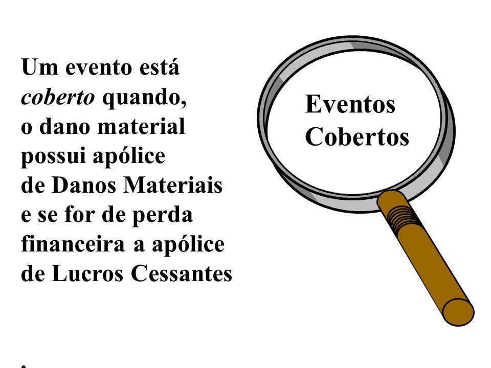 Eventos Cobertos Um evento está coberto quando, o dano material