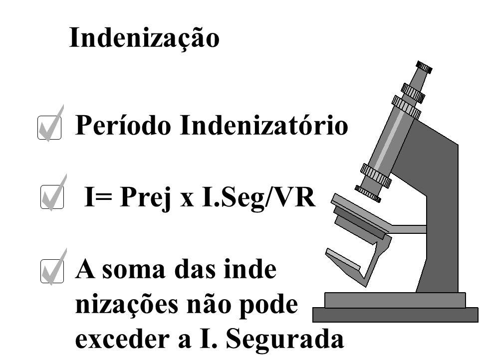 Indenização Período Indenizatório. I= Prej x I.Seg/VR.
